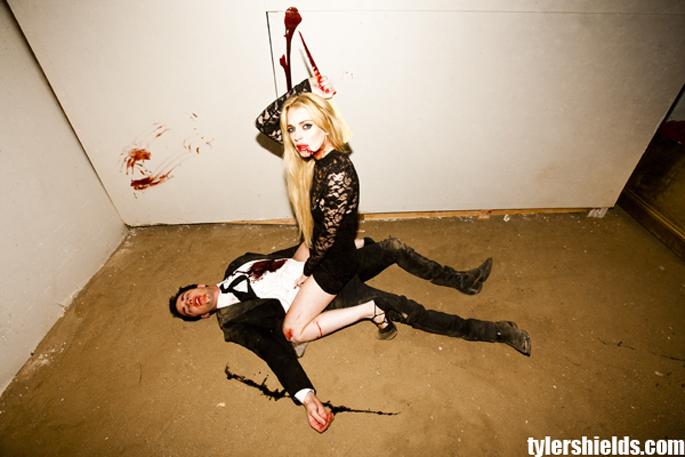 lindsay lohan vampire shoot. Tyler Shields: Lindsay Lohan#39;s
