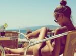 girl summer beach